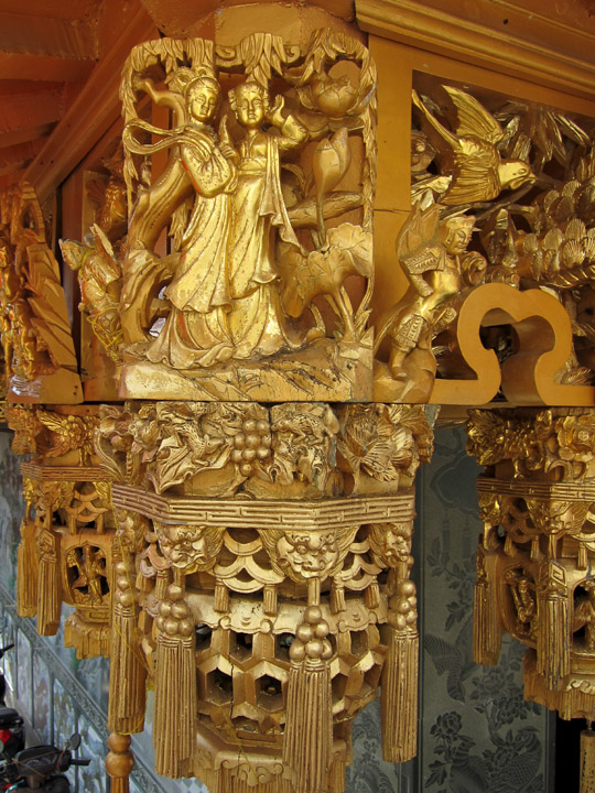 temple gold carved detail