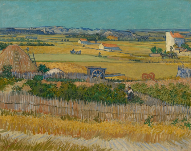 vincent van gogh - Harvest at La Crau (The Blue Cart)