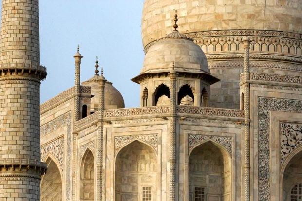 Taj Mahal outside architecture detail