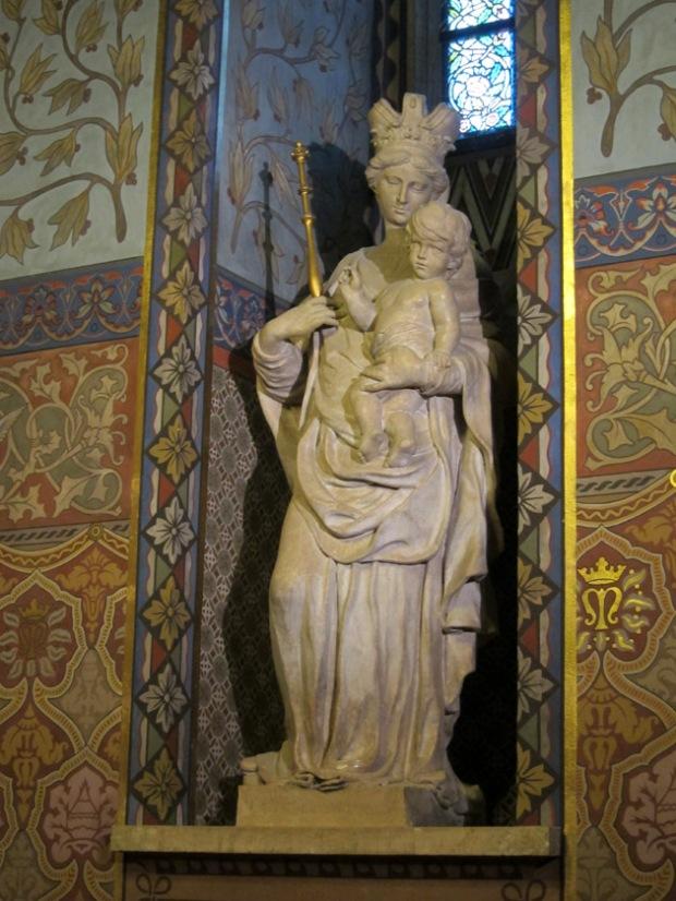 Madonna statue, Matthias Church, Budapest