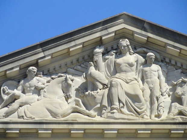 Columbia Pediment, Mellon auditorium DC