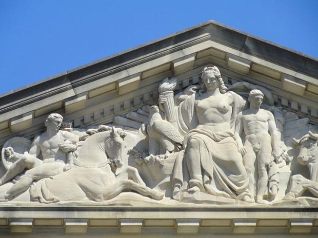 Columbia Pediment, Mellon auditorium DC