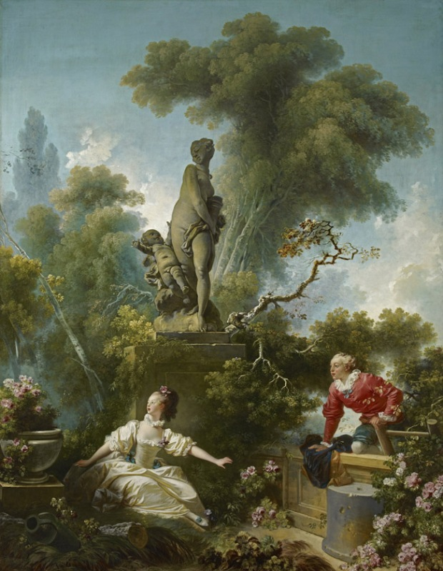 The Secret Meeting - Jean-Honoré Fragonard, Frick Collection, New York City