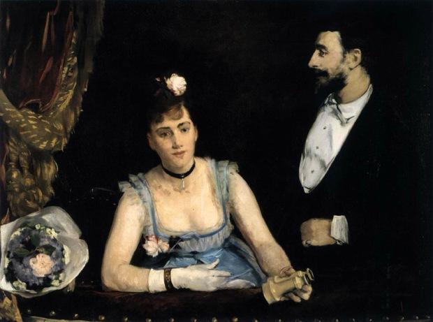 """Eva Gonzalès, """"A Loge at the Théâtre des Italiens"""" 1874, Musée d'Orsay, Paris"""