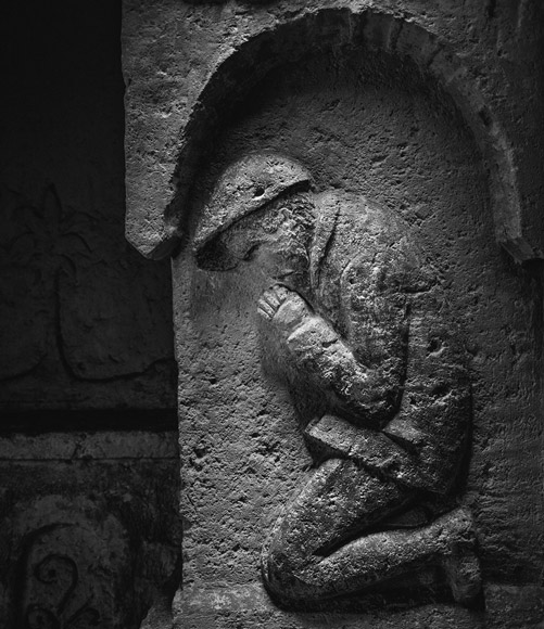 WWI Praying Soldier in Chapel