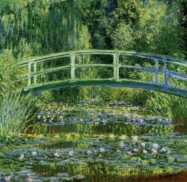 "Claude Monet's ""Water Lilies and the Japanese bridge"""