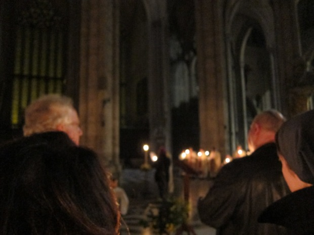 Easter vigil mass in Amiens Cathdral