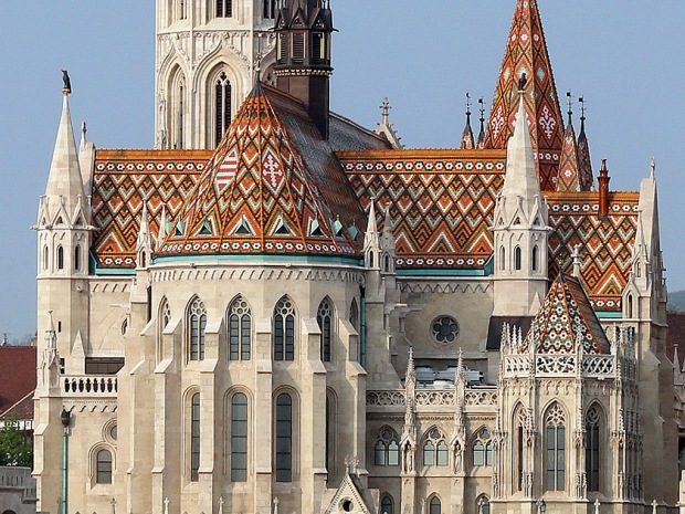 Budapest, Matthias Church tile roof