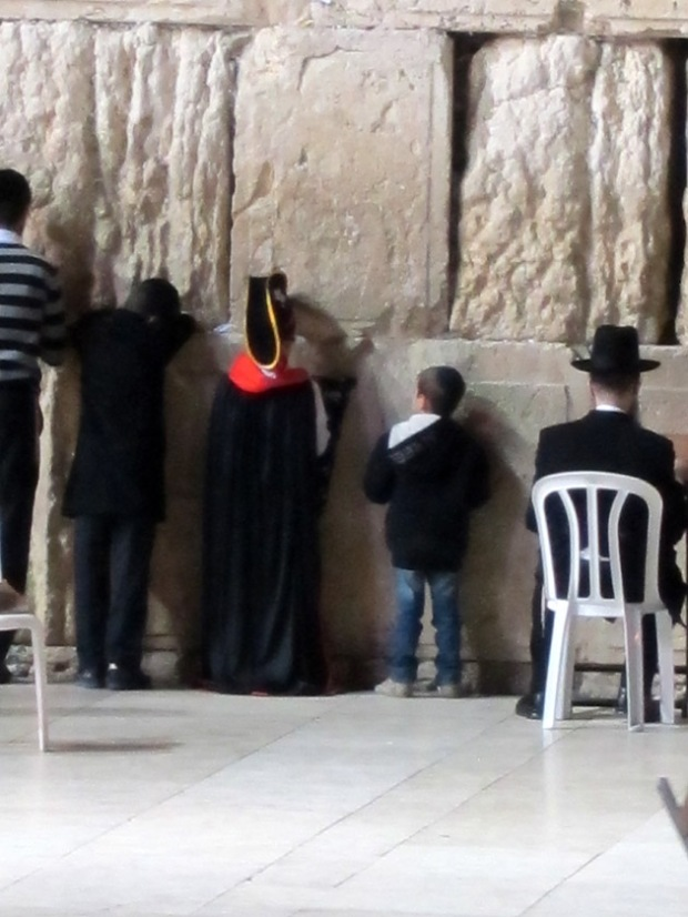Purim at the Western wall