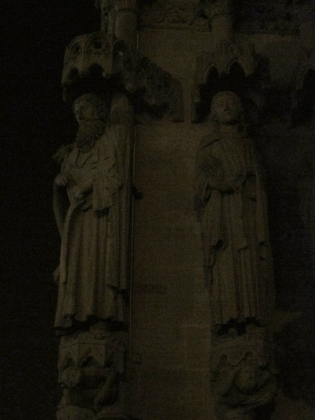 Gothic statues Amiens Cathedral