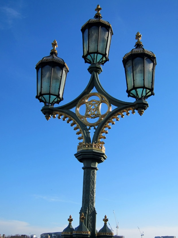 Victorian lamp post on Westminster Bridge