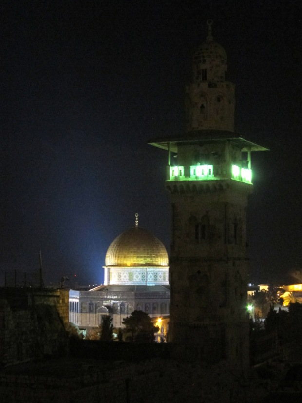 minaret and the Dome of the Rock