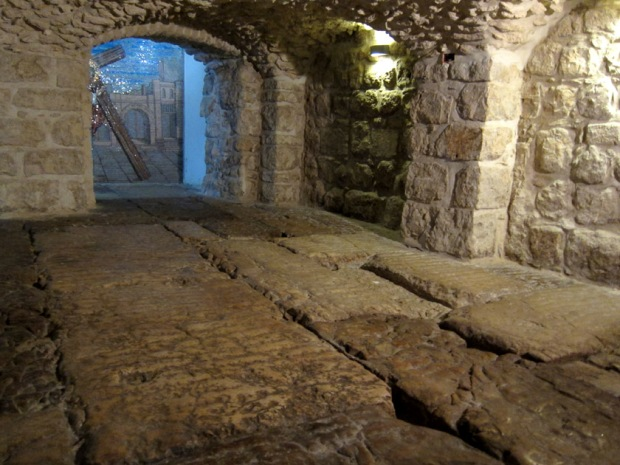 The Lithostrotos is a 1st century CE street found underneath the Ecce Homo convent