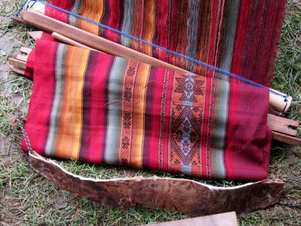 Back-strap loom, Peru