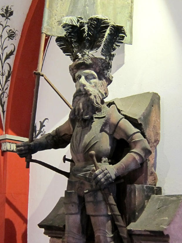 Original knight statue, Basel