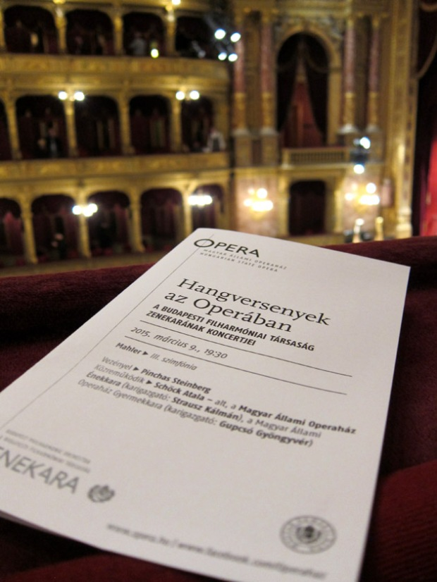 Hungarian Sate Opera Orchestra program