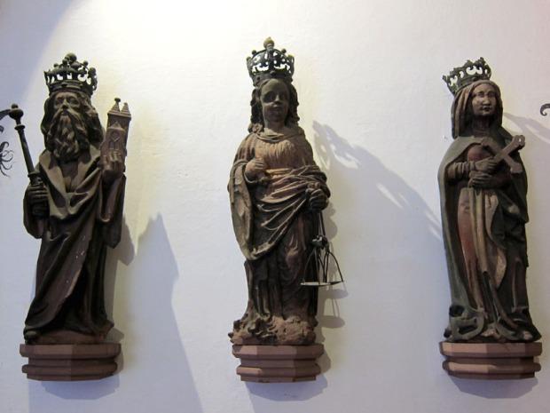 saint statues, Basel