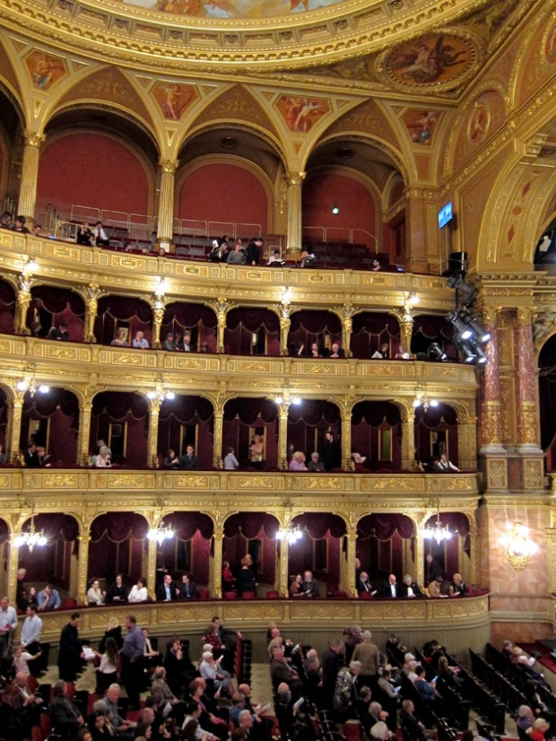 seats at the Hungarian state opera