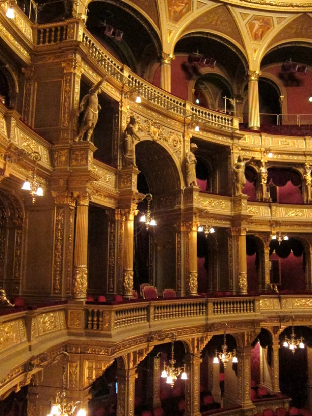Royal boxes at the Hungarian State Opera