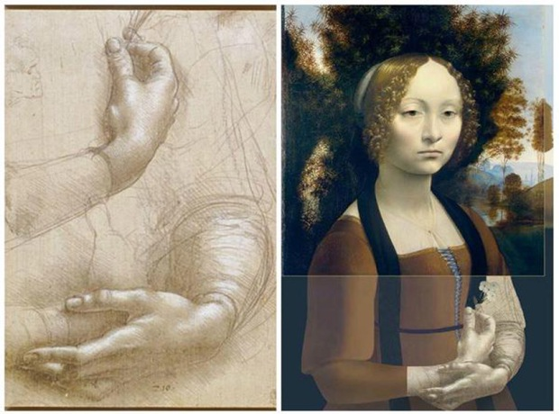 Ginevra de' Benci reconstriction - Leonardo da Vinci