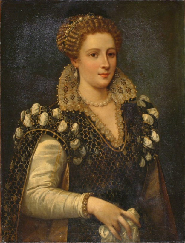 "Alessandro"" Allori, ""Portrait of Isabella de' Medici"" before"