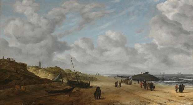 View of Scheveningen Sands, by Hendrick van Anthonissen
