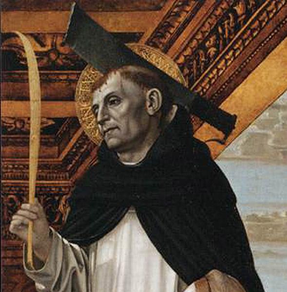 "Ambrogio Bergognone - ""Saint Pierre martyr and a female patron"