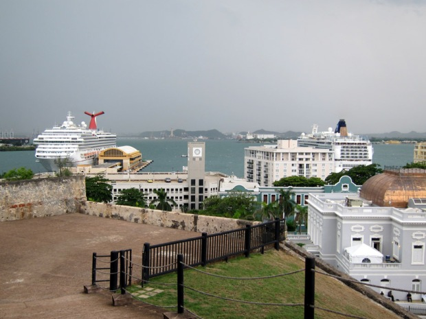 cruise ships docked in San Juan
