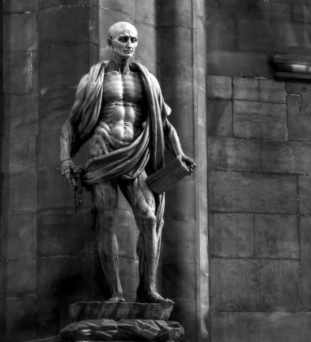 "Marco d'Agrate - ""Statue of St. Bartholomew, with his own skin"""