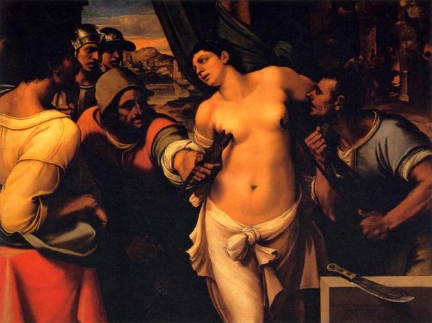 Sebastiano del Piombo - Martyrdom of St Agatha, Palazzo Pitti,