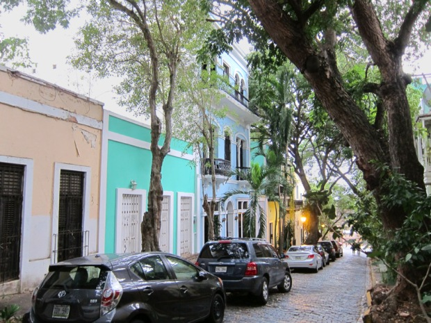 Tree lined street in Old San Juan