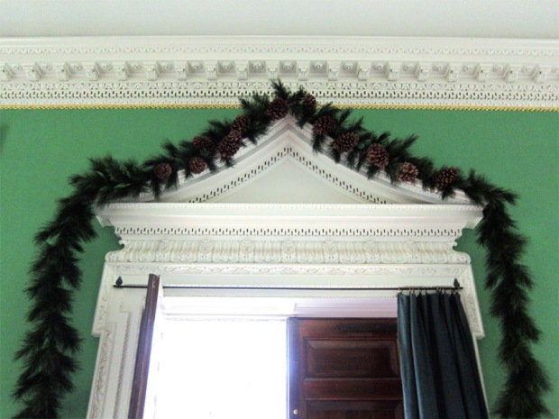 Christmas decorations, Governor's mansion, colonial Williamsburg