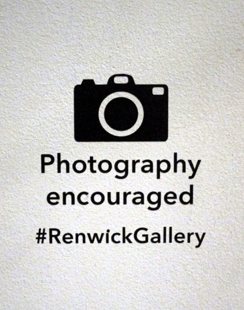 Renwick Gallery photograpy sign