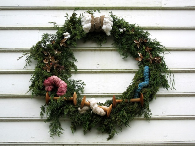 Weaver's Christmas wreath